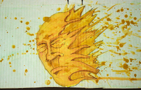 Splash! - ACuarela sobre carton