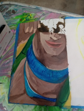 Bocetos de murena - oleo sobre papel